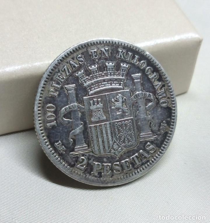 Monedas de España: 2 PESETAS DE PLATA DE 1870 - ESTRELLA 74 - Foto 4 - 117242302