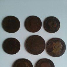 Monedas de España: 8 MONEDAS DE 5 Y 10 CÉNTIMOS . AÑOS 1870 A 1879. Lote 116903142