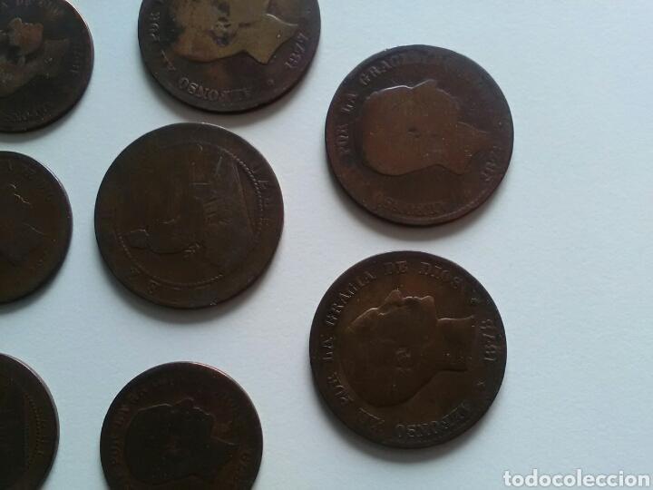 Monedas de España: 8 monedas de 5 y 10 céntimos . Años 1870 a 1879 - Foto 2 - 116903142