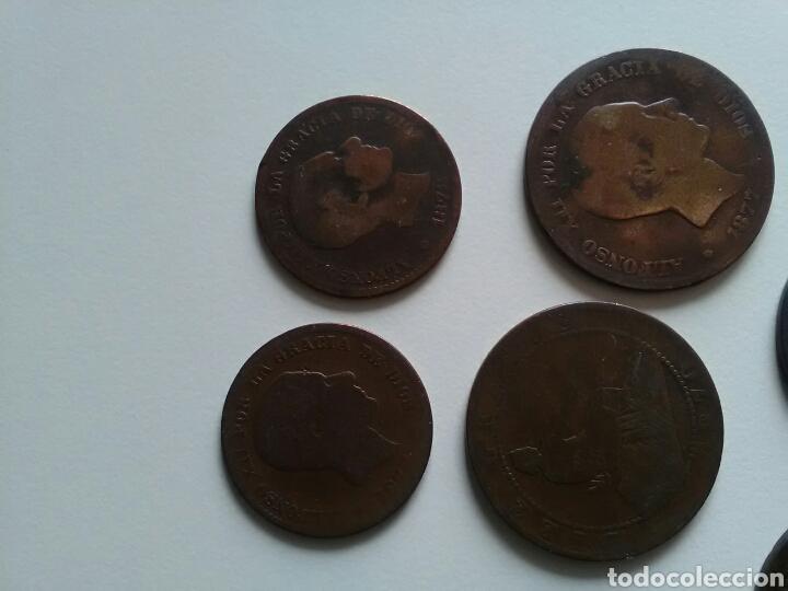 Monedas de España: 8 monedas de 5 y 10 céntimos . Años 1870 a 1879 - Foto 3 - 116903142