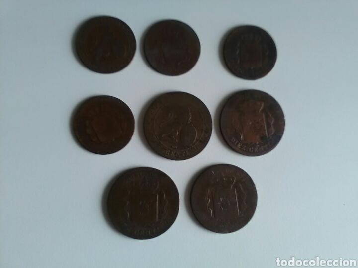 Monedas de España: 8 monedas de 5 y 10 céntimos . Años 1870 a 1879 - Foto 4 - 116903142