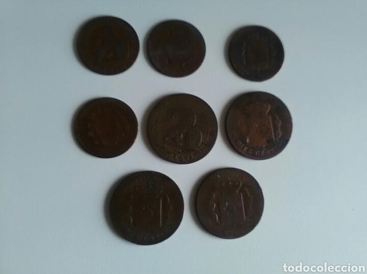 Monedas de España: 8 monedas de 5 y 10 céntimos . Años 1870 a 1879 - Foto 5 - 116903142