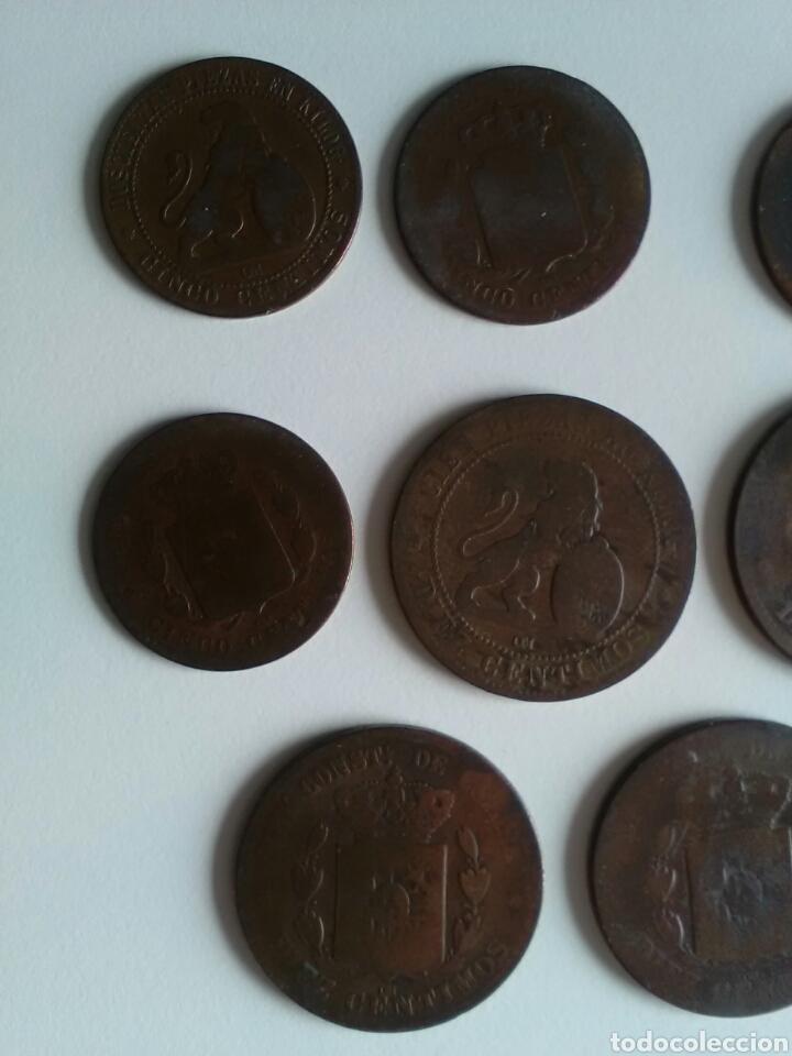Monedas de España: 8 monedas de 5 y 10 céntimos . Años 1870 a 1879 - Foto 7 - 116903142