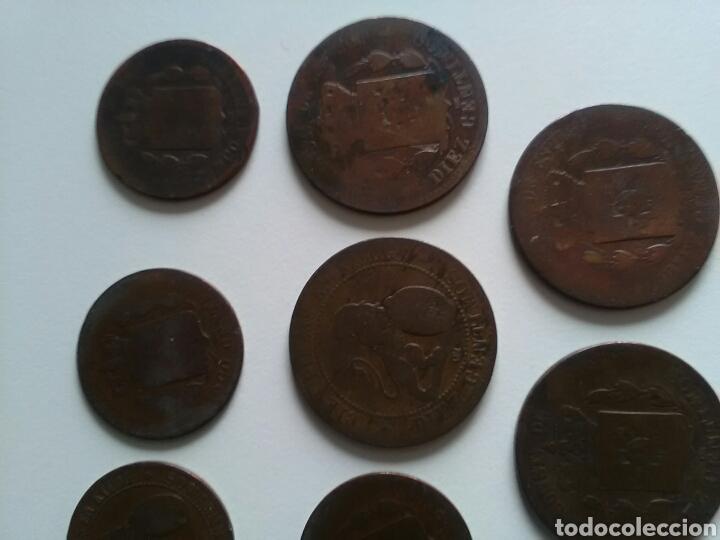 Monedas de España: 8 monedas de 5 y 10 céntimos . Años 1870 a 1879 - Foto 8 - 116903142
