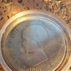 Monedas de España: ALFONSO XIII - 2 PESETAS 1891 PG M. Lote 117062303