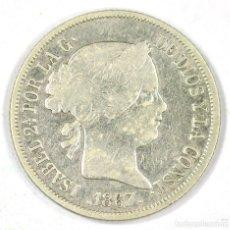Monedas de España: 40 CÉNTIMOS DE ESCUDO 1867 MADRID ISABEL II PLATA SILVER. Lote 117398739
