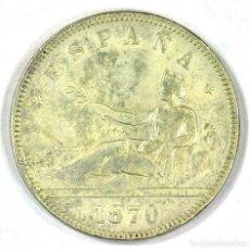 Monedas de España: 2 PESETAS 1870 GOBIERNO PROVISIONAL D.E. M. PLATA ESTRELLAS PERFECTAS (18 - 75) SILVER MONEDA ESPAÑA. Lote 117410835