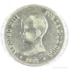 Monedas de España: 5 PESETAS 1890 ALFONSO XIII M.P. M. ESTRELLAS BIEN (18 - 90) DURO PLATA SILVER MONEDA ESPAÑA. Lote 117419187
