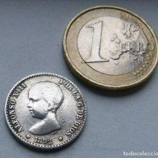 Monedas de España: MONEDA DE PLATA DE 50 CENTIMOS DE ALFONSO XIII AÑO 1892 VARIANTE ESTRELLAS *8*2. Lote 117727867