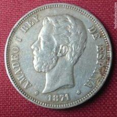 Monedas de España: 5 PESETAS PLATA 1871 SD M AMBAS ESTRELLAS VISIBLES. Lote 117892139