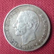 Monedas de España: 2 PESETAS PLATA 1882 ESTRELLA 18 DIFUSA Y ESTRELLA 82 PERFECTAMENTE LEGIBLE. Lote 123117746