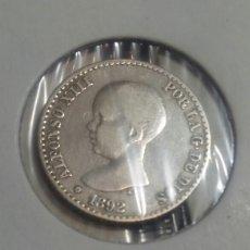 Monedas de España: 50 CÉNTIMOS PLATA ALFONSO XLLL 1892 EBC ESTRELLA 92. Lote 118170894