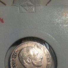 Monedas de España: 10 CENTAVOS DE PESO 1885 MANILA PLATA EBC. Lote 118174151
