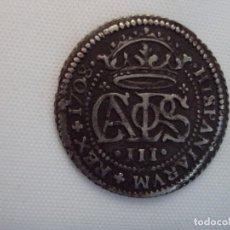 Monnaies d'Espagne: MONEDA 2 REALES DE PLATA DE CARLOS III (PRETENDIENTE). AÑO 1709. CECA BARCELONA. Lote 118476763