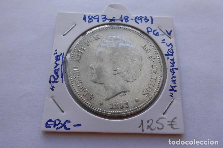 5 PESETAS 1893* 1893 PGV ALFONSO XIII EBC- (Numismática - España Modernas y Contemporáneas - De Isabel II (1.834) a Alfonso XIII (1.931))