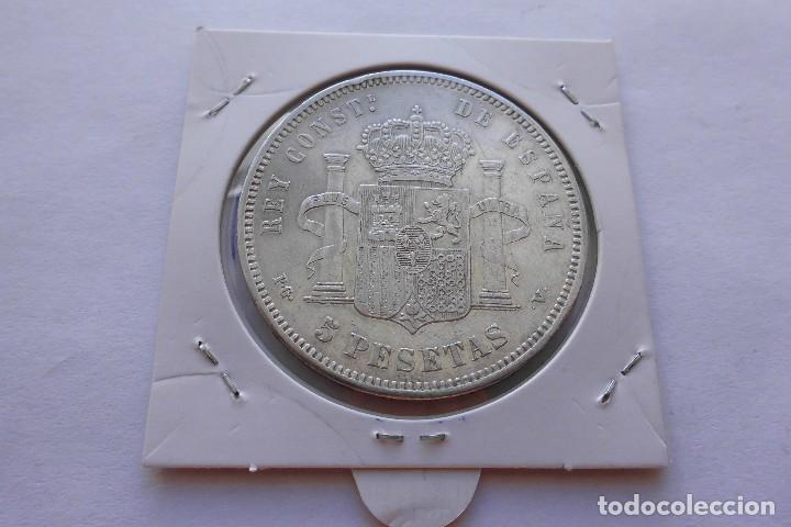 Monedas de España: 5 pesetas 1893* 1893 PGV Alfonso XIII EBC- - Foto 2 - 119256431