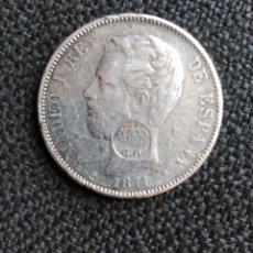 Monedas de España: 5 PESETAS, AMADEO, RESELLO PORTUGUÉS.. Lote 194632300