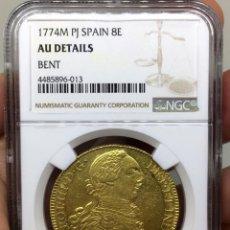 Monedas de España: ¡¡ RARA ASI !! MONEDA DE 8 ESCUDOS DE CARLOS III. CECA DE MADRID. AÑO 1774. EBC+. Lote 120468339