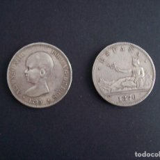 Monedas de España: LOTE DE 2 MONEDAS PLATA DE 5 PTS ALFONSO XIII Y GOBIERNO PROVISIONAL. Lote 120710051