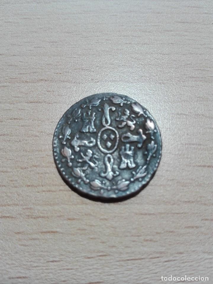 Monedas de España: 2 maravedies 1833 Fernando VII - Foto 2 - 120937399