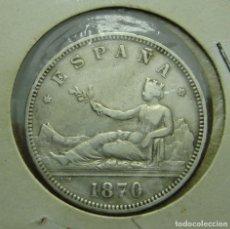 Monedas de España: 2 PESETAS. PLATA. GOBIERNO PROVISIONAL. 1870 *18 *73. Lote 121152331