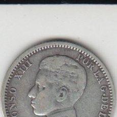Monedas de España: MONEDA DE PLATA ALFONSO XIII 1 PESETA 1903 ESTRELLAS NO VISIBLES. Lote 121168955