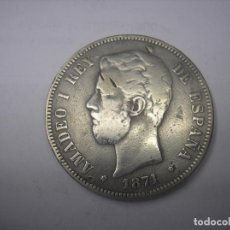 Monedas de España: 5 PESETAS DE PLATA DE 1871. 18-73. REY AMADEO I.¿TRUCADA?. Lote 121331215