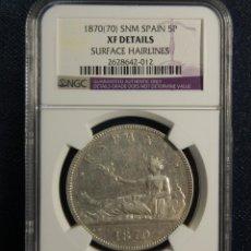 Monedas de España: 5 PESETAS DE PLATA DE ALFONSO XII DEL AÑO 1876 ESTRELLA 76.ESTUCHE GARANTIA NGC.. Lote 121343699