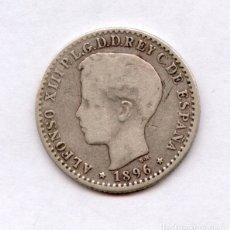 Monedas de España: RARA, MUY RARA. 10 CENTAVOS DE PLATA DE PUERTO RICO. ALFONSO XIII AÑO 1896. Lote 27613740