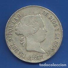 Monedas de España: ISABEL II 1 ESCUDO PLATA 1867 MADRID. Lote 144280798
