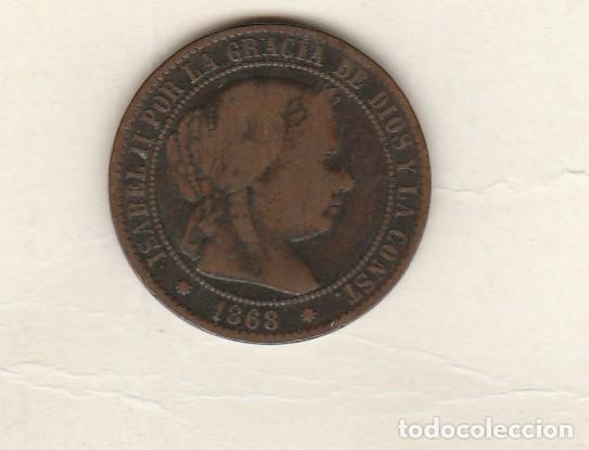 ISABEL II- 2 1/2 CENTIMOS DE ESCUDO- 1868-BARCELONA (Numismática - España Modernas y Contemporáneas - De Isabel II (1.834) a Alfonso XIII (1.931))