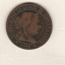Monedas de España: ISABEL II- 2 1/2 CENTIMOS DE ESCUDO- 1868-BARCELONA. Lote 122226111
