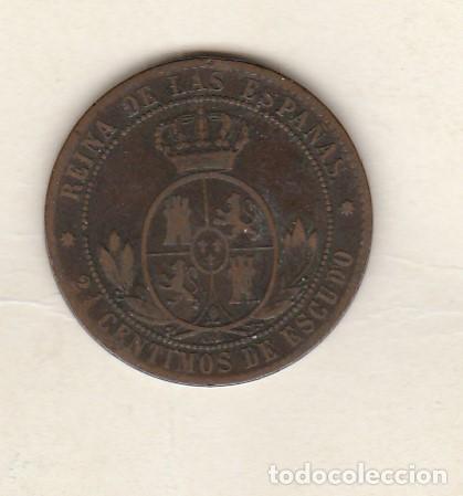 Monedas de España: ISABEL II- 2 1/2 CENTIMOS DE ESCUDO- 1868-BARCELONA - Foto 2 - 122226111