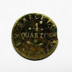 Monedas de España: JOSÉ NAPOLEÓN. TRES MONEDAS DE 4 CUARTOS ACUÑADAS EN BARCELONA, EN 1810-1812-1813. LOTE 1042. Lote 122345187