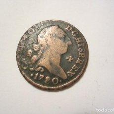 Monedas de España: MONEDA DE 4 MARAVEDIS DE CARLOS III DE 1780 (SEGOVIA). Lote 122489855