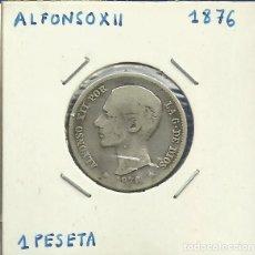 Monedas de España: ALFONSO XII 1 PESETA PLATA 1876. Lote 122958807