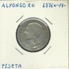 Monedas de España: ALFONSO XII 1 PESETA PLATA 1876 *XX-7X. Lote 122958883