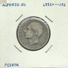 Monedas de España: ALFONSO XII 1 PESETA PLATA 1882 *XX-82. Lote 122958991