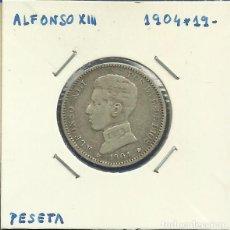 Monedas de España: ALFONSO XIII 1 PESETA PLATA 1904 *19-XX SMV. Lote 208212062