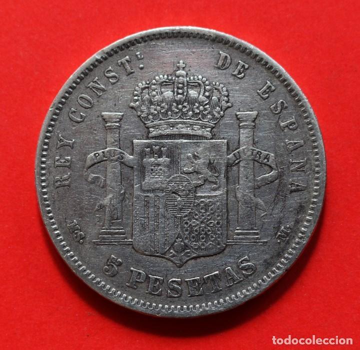 Monedas de España: 5 PESETAS 1884 (18-84) ALFONSO XII - Foto 2 - 124212971