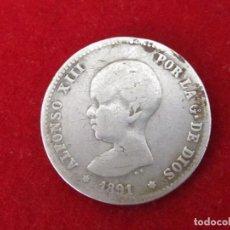 Monedas de España: MONEDA DE PLATA, 1 PESETA DE 1891 (ALFONSO XIII). Lote 124283279