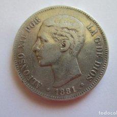 Monedas de España: ALFONSO XII * 5 PESETAS 1881 MS M * ESCASA * PLATA. Lote 124299227