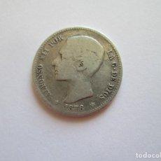 Monedas de España: ALFONSO XII * 1 PESETA 1876 DE M * ESCASA * PLATA. Lote 124301259