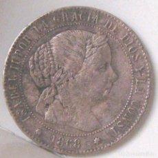 Monedas de España: ISABEL II .- 1/2 CENTIMO ESCUDO 1868 SEVILLA OM. Lote 124653771