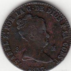 Monedas de España: ISABEL II: 8 MARAVEDIS 1837 JUBIA. Lote 124655923