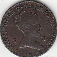 Monedas de España: ISABEL II: 8 MARAVEDIS 1847 SEGOVIA. Lote 124786403