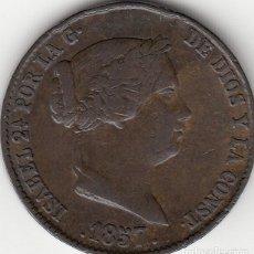 Monedas de España: ISABEL II: 25 CENTIMOS DE REAL 1857 SEGOVIA. Lote 125084827