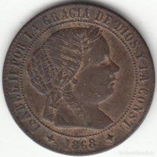 Monedas de España: ISABEL II: 1/2 CENTIMO DE ESCUDO 1868 OM JUBIA. Lote 125199455