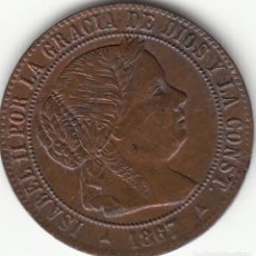 Monedas de España: ISABEL II: 1/2 CENTIMO DE ESCUDO 1867 OM SEGOVIA. Lote 125199655