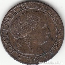 Monedas de España: ISABEL II: 1 CENTIMO DE ESCUDO 1868 OM JUBIA. Lote 125267015